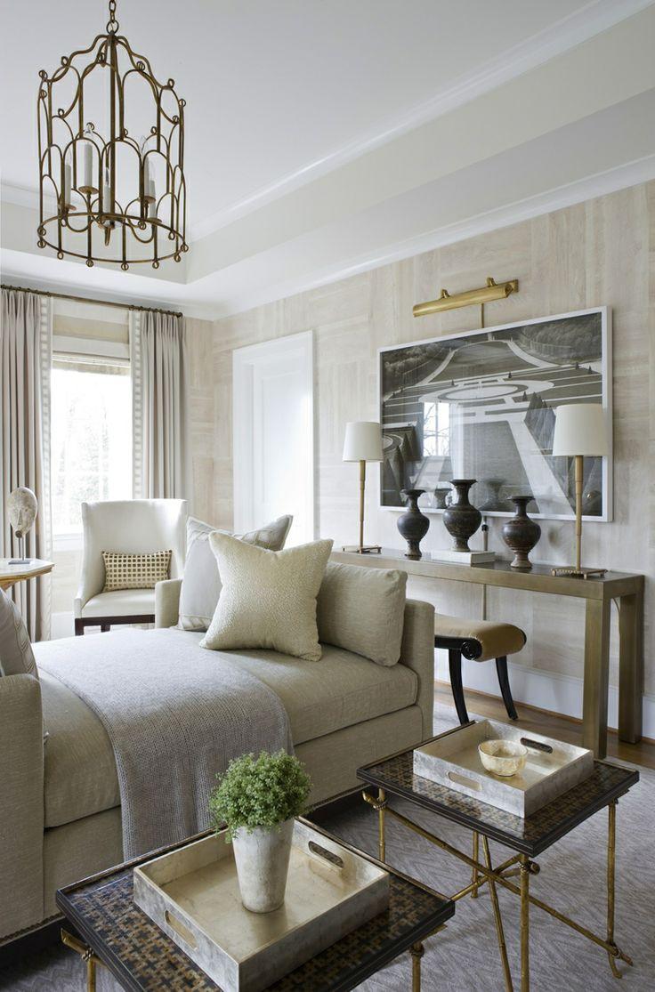 Sophisticated neutrals, wall treatment | Michael Hampton DC Design House