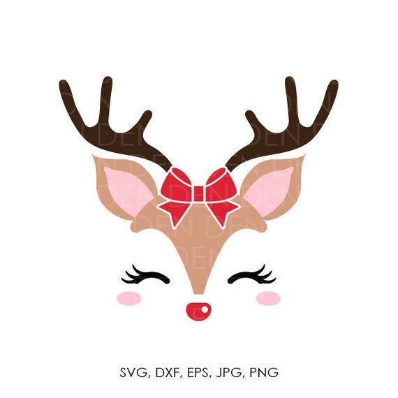 Reindeer Svg Reindeer Head Svg Reindeer Clip Art Reindeer Face Svg Christmas Svg Christmas Reindeer Christmas Paintings Christmas Reindeer Christmas Vinyl