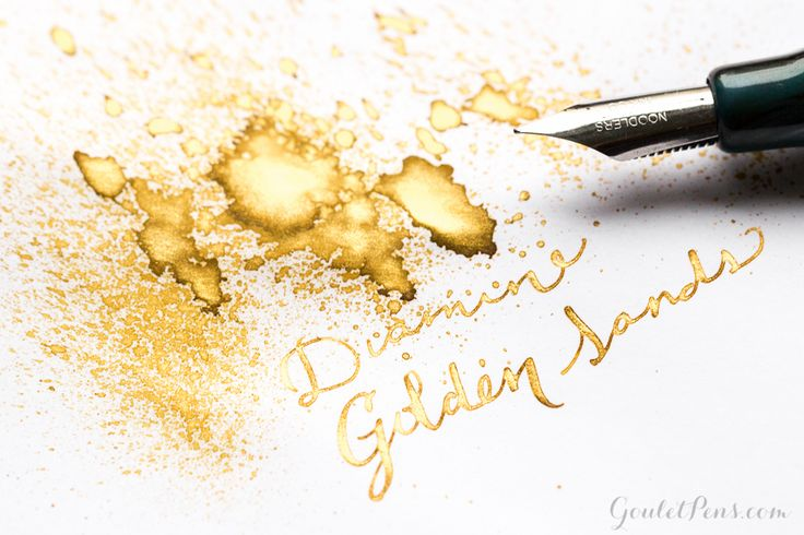 Goulet Pens Blog: Diamine Golden Sands: Ink review