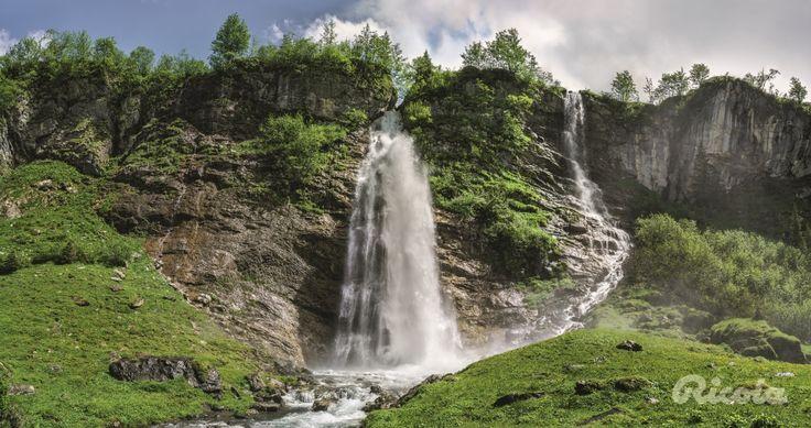 #Switzerland #Waterfall #Alps #Ricola