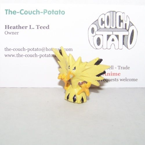 Pokemon Zapdos Stamp figure Zapdos approx 1 inch tall figure designed to mount on top of a stamp
