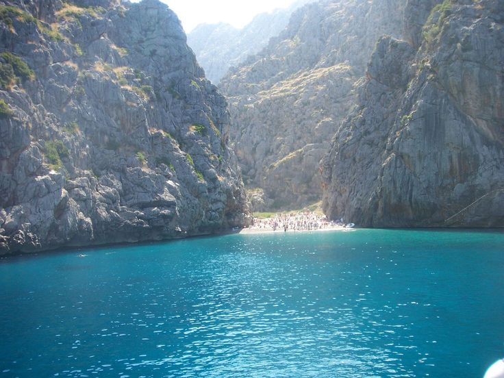 One of the most isolated Beaches of Mallorca, Torrent de Pareis. A beautiful piece of untouched Nature, we visit on our best Excursion. ----- More Information: http://www.nofrills-excursions.com/excursions-tours-thingstodo/port-alcudia/island-tour-bus-trainboat-and-tram/