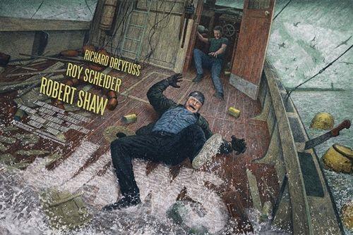Jaws Movie Poster by John Barry Ballaran