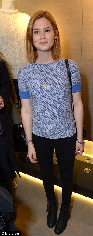 Bonnie Wright at the Pringle of Scotland Store Launch Party during London Fashion Week