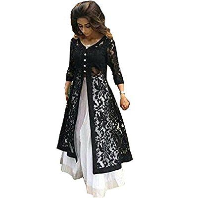 Z Fashion Women's White & Black Color Indo-Western Lehenga Choli