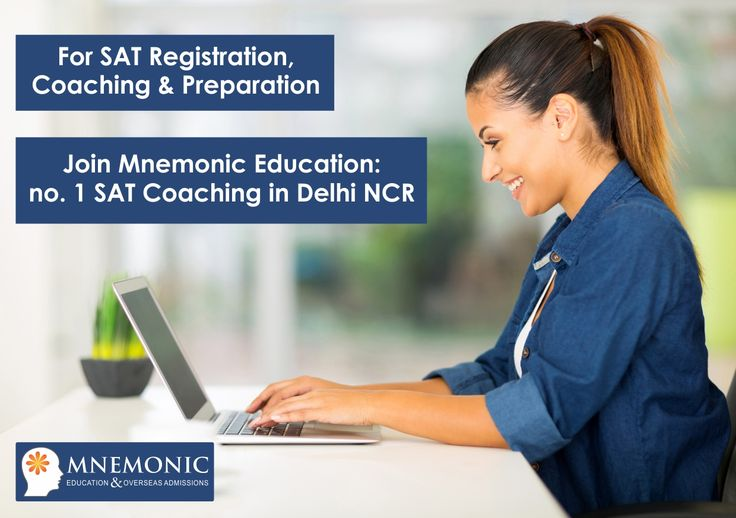 Mnemonic Education offers matchless standard of SAT Coaching in Delhi. It has foreign education experts who are certified from Top USA universities. Get preliminary round of counseling, exclusive career guidance and best training for SAT.