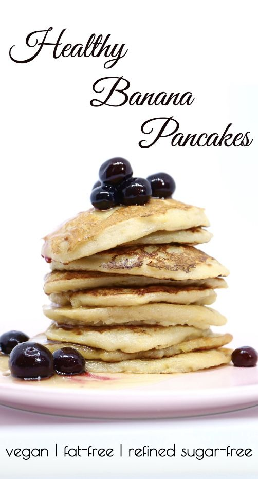 Healthy Vegan Banana Pancakes