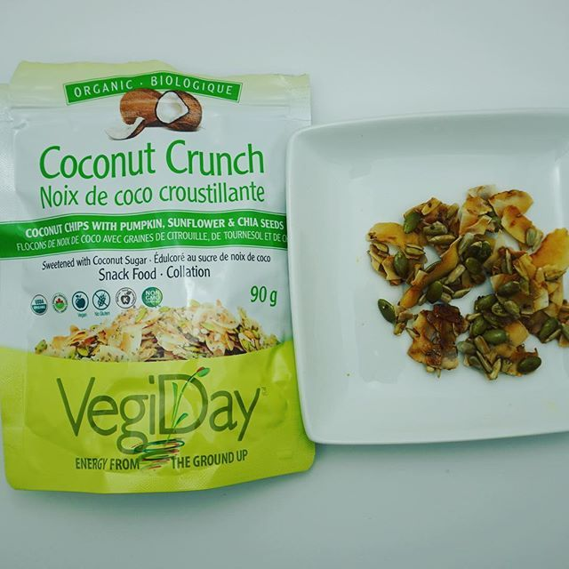 I posted a savoury coconut chip this morning, so now it's time for a sweet one! Vegi Day coconut crunch. This includes pumpkin, sunflower and chips seeds. In my opinion it takes like peanut brittle  Follow my account as I post all of my gluten free discoveries