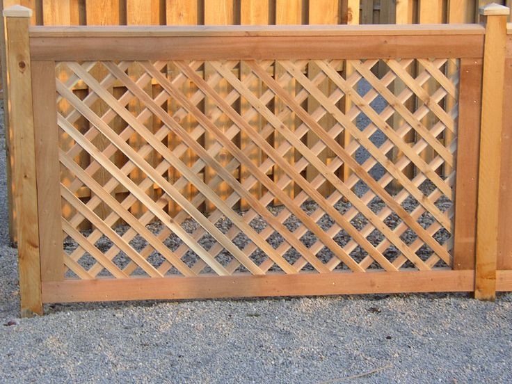 beach lattice fence type pen for storing beach chairs only made with  smaller heavy lattice that has smaller holes. Wood Fencing, Cedar Fence  Contractors in ... - 25+ Best Ideas About Lattice Fence Panels On Pinterest Trellis