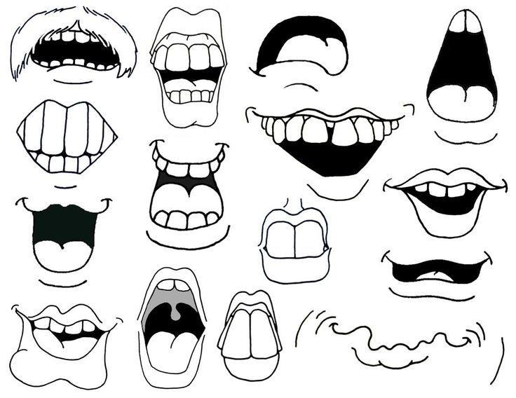 cartoon mouths how to draw cartoon mouths