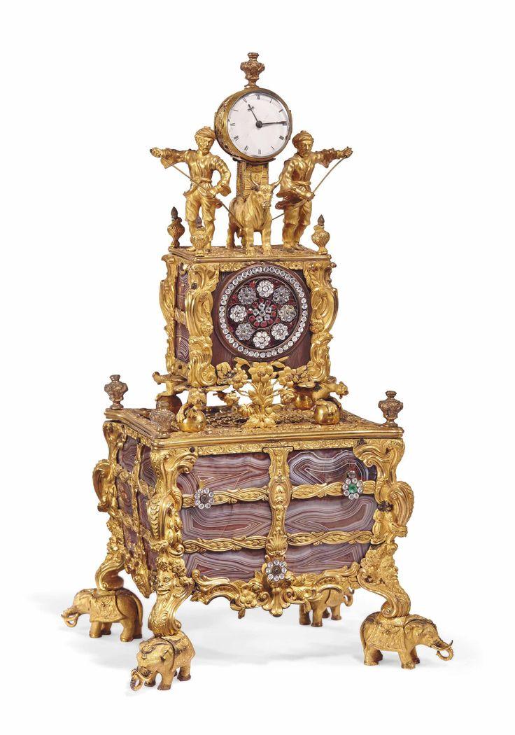 date unspecified PENDULE A MUSIQUE D'EPOQUE GEORGE III SIGNATURE DE THOMAS BEST, ATTRIBUEE A JAMES COX, LONDRES, TROISIEME QUART DU XVIIIEME SIECLE Price realised EUR 290,500