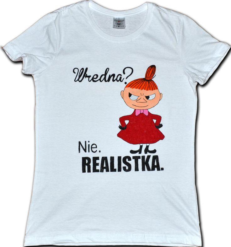Koszulka ręcznie malowana specjalnymi farbami do tkanin. Motyw: Mała Mi Możliwość zamówienia dowolnej koszulki.