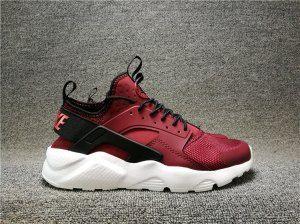 reputable site 6484b a7835 Mens Nike Air Huarache Ultra SE Premium Team Red Black White 819685 601  Running Shoes