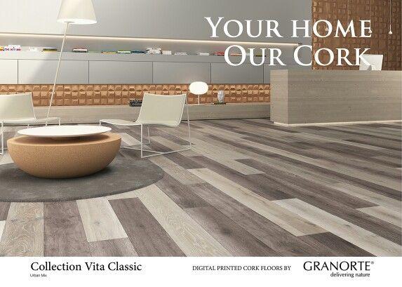 NEW URBAN MIX. Digital printed cork floating floor
