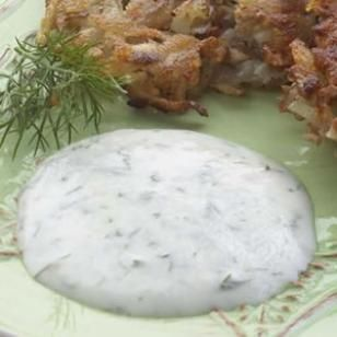 Horseradish-Dill Cream  This tangy and piquant sour-cream sauce is also a great accompaniment to steaks or baked potatoes