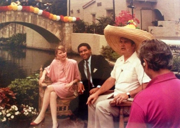 April 1983 - The NBC Today Show broadcast 2 live shows during Fiesta Week in 1983 - shot of Jane Pauley, Bryant Gumbel and Willard Scott at the Arneson River Theatre.