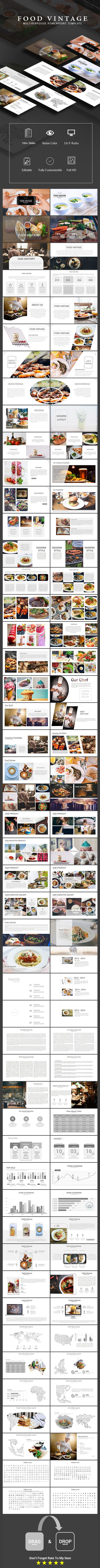 Food Vintage - Multiperpouse Powerpoint Template
