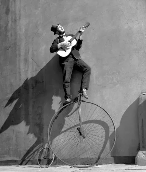 learn to play an instrument { preferably whilst riding a penny farthing !! } …