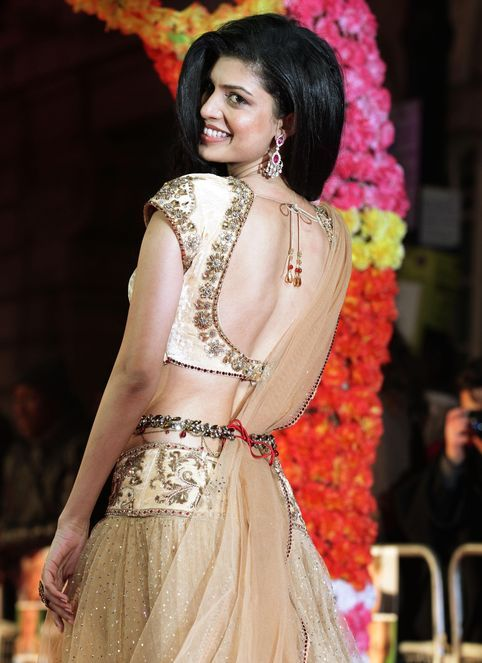 Actor Tena Desae at the world premiere of 'The Best Exotic Marigold Hotel' in London, 2012