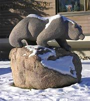 """Mistahiya"" the bear, a public art sculpture in the Town of Banff"