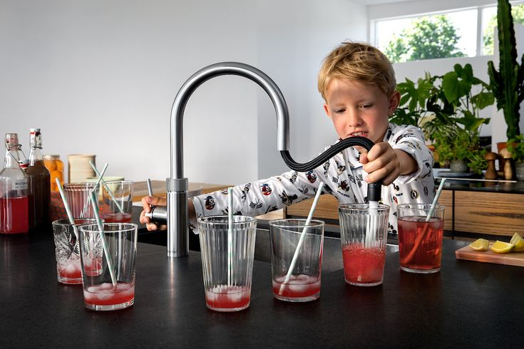 Quooker Flex kokend water kraan met flexibele uittrekslang