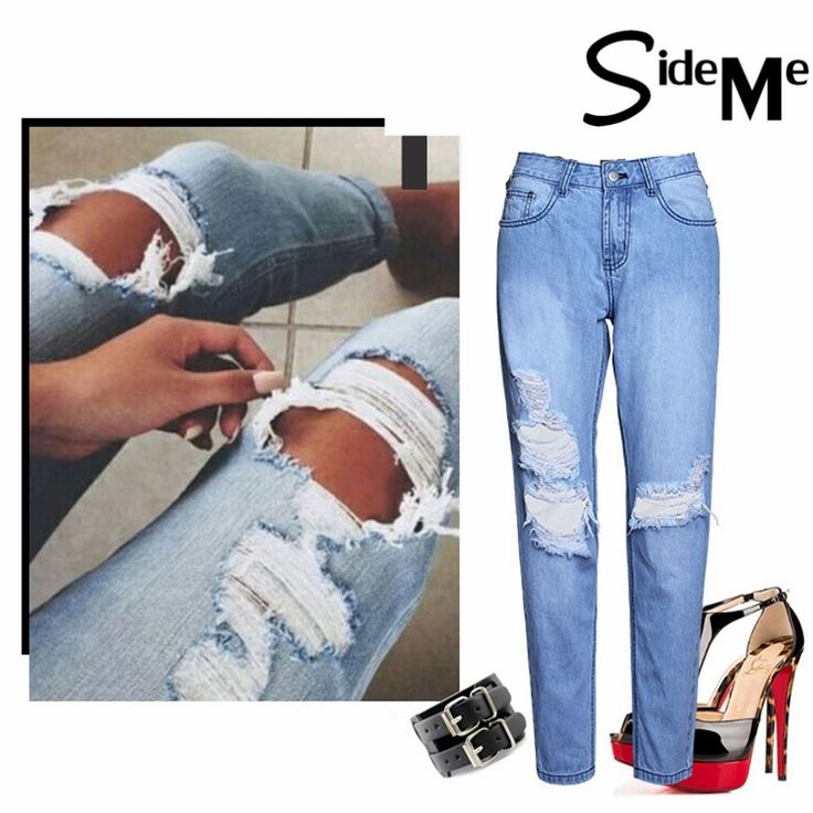21.78$  Buy here - http://aliyqj.shopchina.info/1/go.php?t=32814302706 - 2017 Summer New Denim Ripped Hollow Out Harajuku Maxi Boyfriend Sexy Women High Waist Loose Jeans Pants Ladies Trousers  #buychinaproducts
