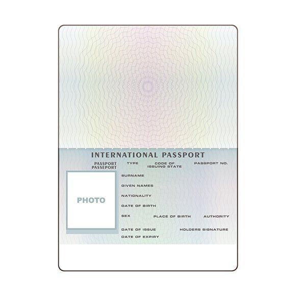 Open International Passport Template Passport Template