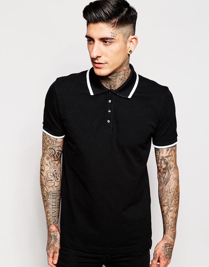Image 1 of Pretty Green Polo Shirt with Single Tip