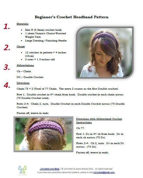 beginners crochet headband