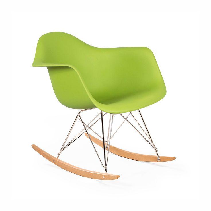 RAR Molded Plastic Rocking Chair - Green