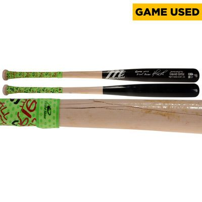 """MLB-Autographed Boston Red Sox David Ortiz Fanatics Authentic Game-Used Broken Baseball Bat vs. Baltimore Orioles on August 17, 2016 with """"Game Used Final Season"""" Inscription $2,999.99"""