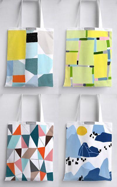 Ophelia Pang : more tote bags mock-up