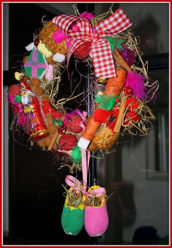 Sinterklaas krans gemaakt door kids!