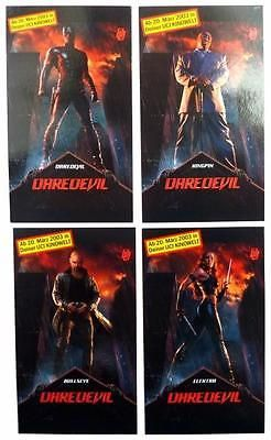 Full Set of 4 German Daredevil The Movie Promo Trading Cards Kingpin Bullseye in Collectables, Trading Cards/ CCG, Films | eBay