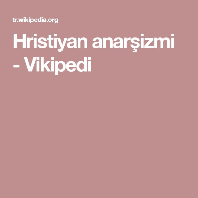 Hristiyan anarşizmi - Vikipedi