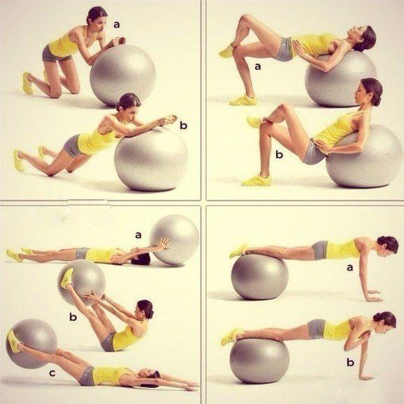 4 эффективных упражнения с фитболом для всего тела