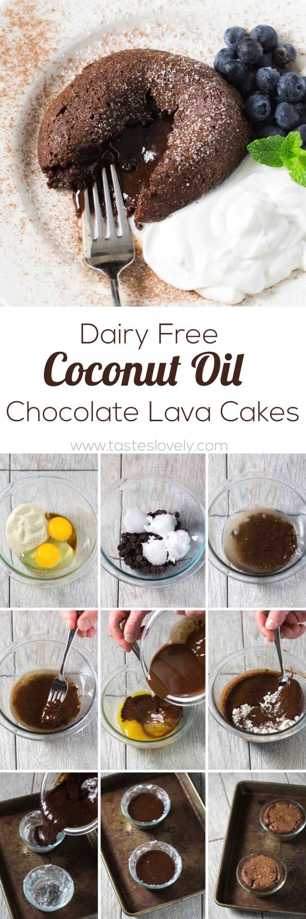 Dairy Free Coconut Oil Chocolate Molten Lava Cakes