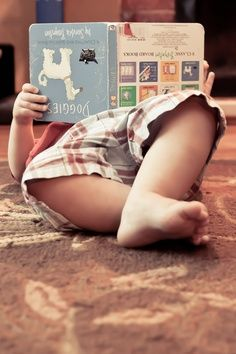 upside down reading ... all of us did this before #children