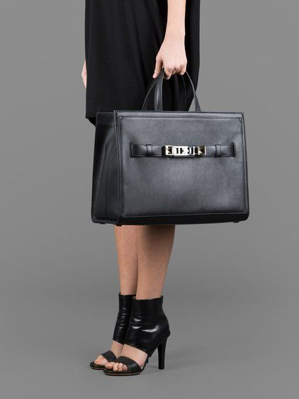 PROENZA SCHOULER WOMEN'S BLACK PS11 LEATHER TOTE BAG   - PROENZA SCHOULER PS 11 LEATHER TOTE BAG  - PS 11 TOTE BAG  - BLACK  - LEATHER TOTE  - GOLD/PLATINUM SIGNATURE  - INVERTED STUD DETAIL  - ZIP CLOSURE  - TWO TOP HANDLES  - SNAP CLOSURE  - 100% LEATHER  - HEIGHT: 29 CM  - WIDTH: 40 CM  - DEPTH: 19 CM  - MADE IN ITALY