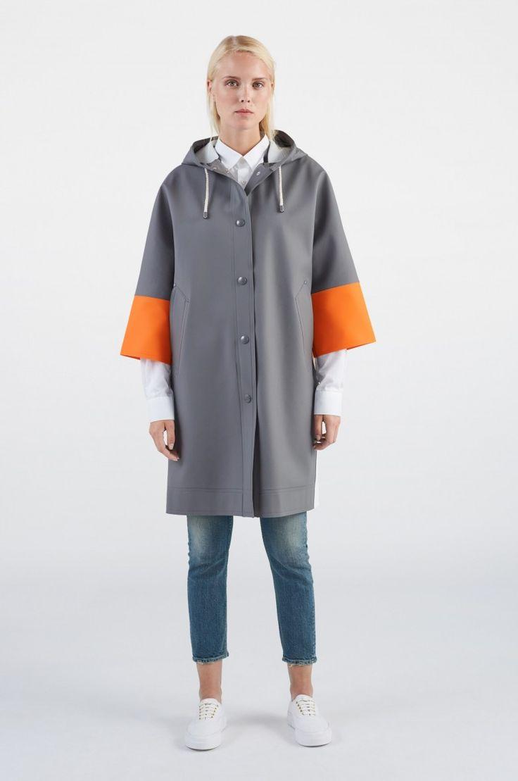 Volume Coat Grey Block - MARNI - lp - Shop – Stutterheim Raincoats