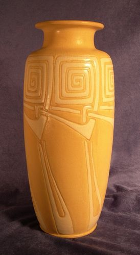 "Weller Pottery - Camelot - Large 14"" Vase - Quite rare"