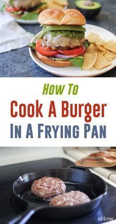 How to Cook a Hamburger in a Frying Pan | How to cook ...