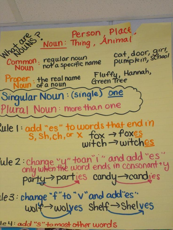 changing singular nouns to plural great visual really helps kids see how to change them