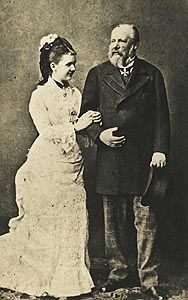 """King William III and Queen Emma of the Netherlands. Emma married elderly king William III in 1879 two years after the death of his first wife.The aging, licentious king, once described as """"the greatest debauchee of the age"""", had previously been rejected by Emma's sister Pauline and by Princess Thyra of Denmark.--wikipedia With William, Emma had her only child, the future Queen Wilhelmina, on 31 August 1880."""