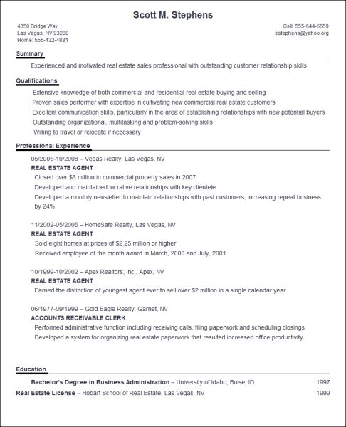 resume ideas