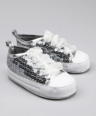 Silver Sequin Sneaker from Vitamins Baby