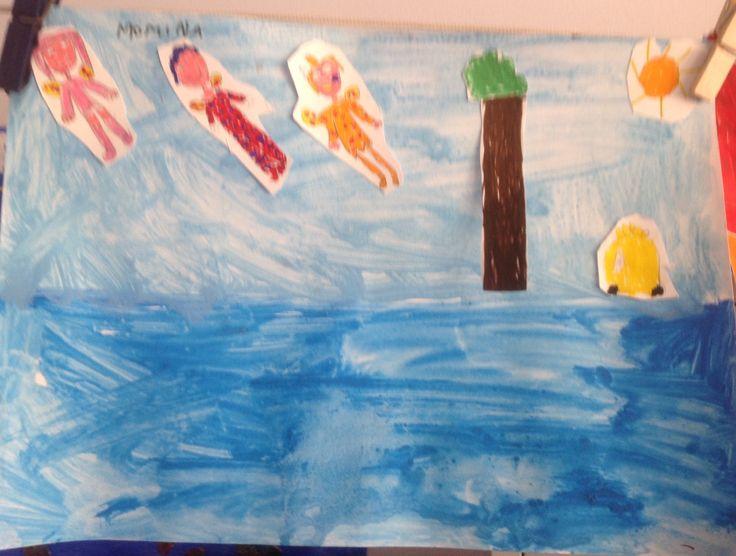 Nella fantasia c'è spazio per tutto...anche che un albero sia in mezzo al mare!!