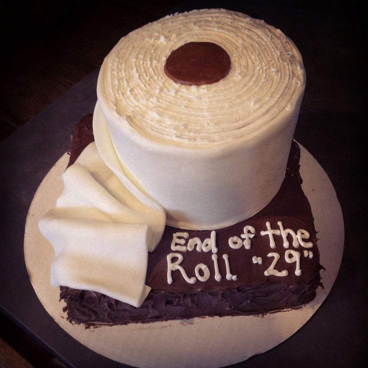 Funny Toilet Cake Images : Toilet paper roll cake My cakes/cupcakes/cookies ...