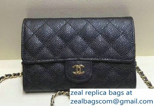 great variety models wholesale online factory outlet Chanel Classic Clutch with Chain WOC Bag A84512 Grained ...