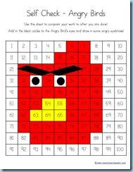 Angry Birds 100 Chart Coloring - 1+1+1=1